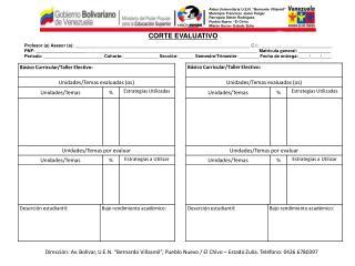 Aldea Universitaria U.E.N.  Bernardo Villasmil  Municipio Francisco Javier Pulgar Parroquia Sim n Rodr guez. Pueblo Nuev