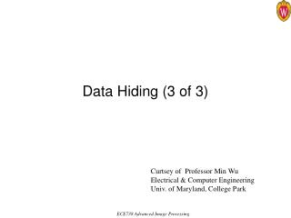 Data Hiding 3 of 3