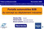 Portails automobiles B2B du concept au d ploiement industriel