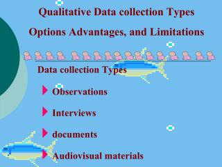 Qualitative Data collection Types Options Advantages, and Limitations