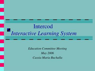 Intercod  Interactive Learning System