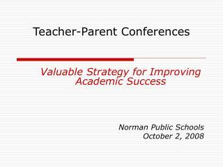 Teacher-Parent Conferences