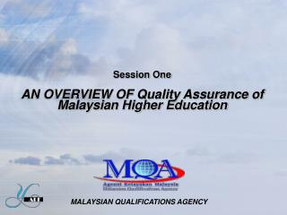 Session One  AN OVERVIEW OF Quality Assurance of Malaysian Higher Education