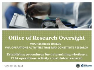 Office of Research Oversight