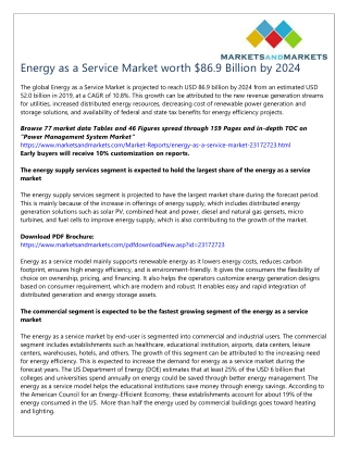 Energy as a Service Market worth $86.9 Billion by 2024
