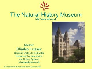 The Natural History Museum nhm.ac.uk