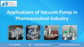 The Importance of Vacuum Pump in the Pharmaceutical Industry