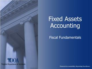 Fixed Assets Accounting Fiscal Fundamentals