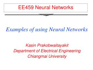 EE459 Neural Networks