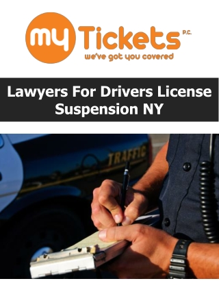 Lawyers For Drivers License Suspension NY