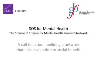 SOS for Mental Health  The Science of Science for Mental Health Research Network