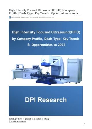 High Intensity Focused Ultrasound Market | Global Analysis | Forecast | 2020