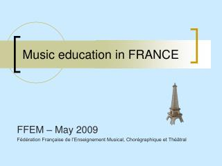 Music education in FRANCE