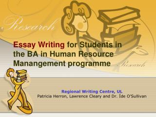 Essay Writing for Students in the BA in Human Resource Manangement programme