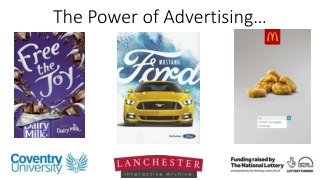 Advertising Themes  Target Audiences