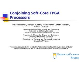Conjoining Soft-Core FPGA Processors