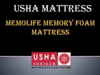 Usha Shriram Memolife Memory Foam Mattress