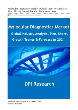Molecular Diagnostics Market Research Report