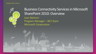 Business Connectivity Services in Microsoft SharePoint 2010: Overview