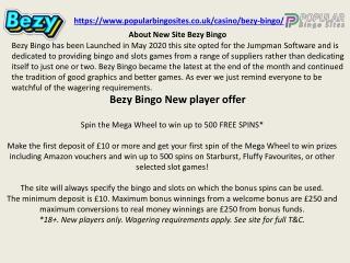 best online bingo sites UK bezy bingo