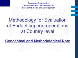 European Commission Joint Evaluation Unit common to  EuropeAid, Relex and Development