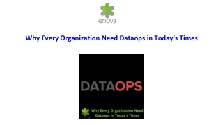Why Every Organization Need Dataops in Today's Times