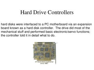 Hard Drive Controllers