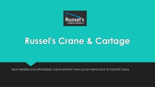 Crane Rental Victoria | Crane And Lifting Services | Book Now!