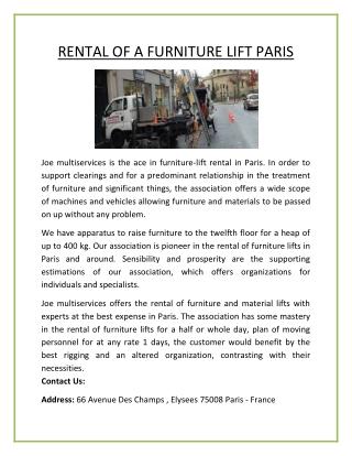 Moving Service Paris