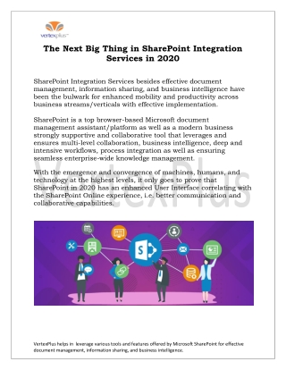 Next Big Thing in SharePoint Integration Services