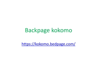 Backpage kokomo