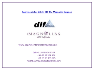 Apartments For Sale In DLF The Magnolias Gurgaon