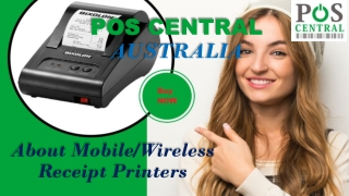 About Mobile/Wireless Receipt Printers