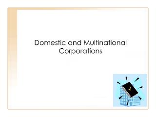 Domestic and Multinational Corporations