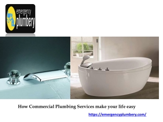 How Commercial Plumbing Services make your life easy