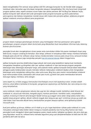 Software Aplikasi Notebook Trik Aplikasi Zoom Terkini 2020