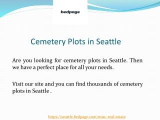 Cemetery Plots for sale in Seattle