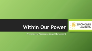 Within Our Power | Bias Training Program