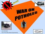 Origin of the Word POTHOLE