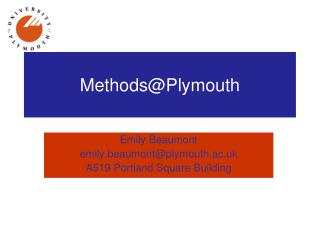 Methods@Plymouth