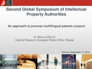 Second Global Symposium of Intellectual Property Authorities