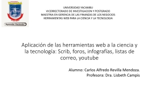 Aplicación de las herramientas WEB a la ciencia y tecnologia.