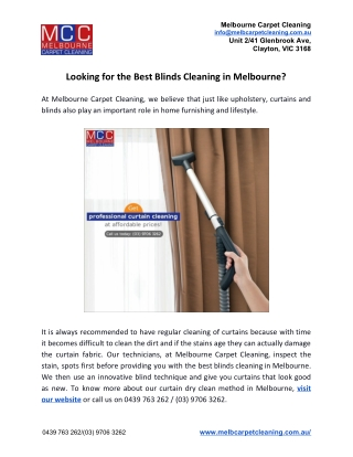 Looking for the Best Blinds Cleaning in Melbourne?