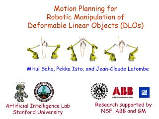 Motion Planning for  Robotic Manipulation of  Deformable Linear Objects DLOs