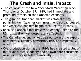 The Crash and Initial Impact