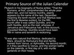 Primary Source of the Julian Calendar