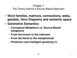 Chapter 1 The Theory behind a Source-Based Approach