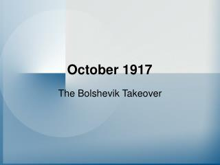 October 1917