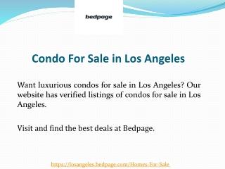 Condo For Sale in Los Angeles