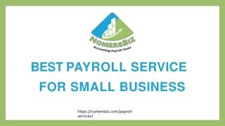 Online payroll services for startups | Nomersbiz